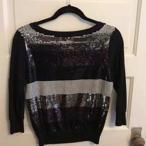 Express Sweaters - Sequined express sweater xs